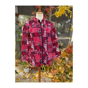 Quilted Patchwork Jacket Light Reversible Cozy Fall Jacket